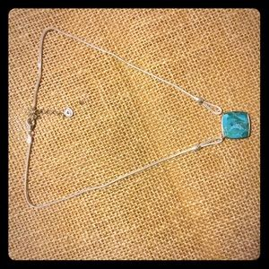 Silpada Reversible Necklace with Onyx & Turquoise